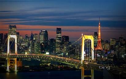 Tokyo Bridges Skylines Landscapes Cities