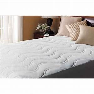 buy sunbeam california king quilted cotton top heated With best quilted mattress pad