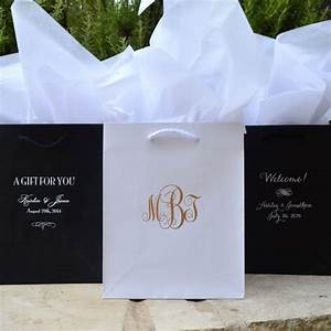 50 custom hotel wedding welcome bags personalized printed With wedding hotel gift bags