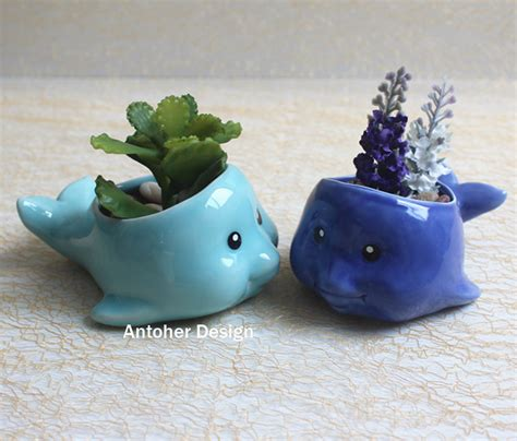decoration pot de fleur aliexpress buy 1pc fish flower pots planters home decoration ceramic pots maceta