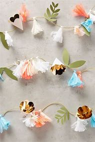 Best diy paper flower garland ideas and images on bing find what floral paper garland anthropologie mightylinksfo