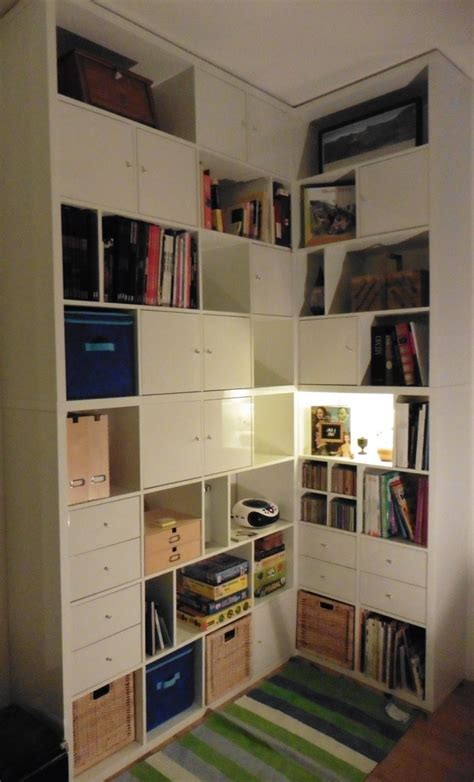 bureau billy ikea une bibliothèque d angle sur mesure avec kallax meuble