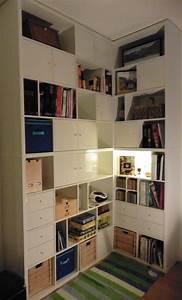 Bibliotheque Angle Ikea : une biblioth que d 39 angle sur mesure avec kallax ~ Teatrodelosmanantiales.com Idées de Décoration