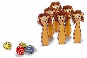 Outdoor Spielzeug Für Kleinkinder : kegelspiel leo bunte kegel mit gesicht bringen schwung ins kinderzimmer holzspielzeug ma e ~ Eleganceandgraceweddings.com Haus und Dekorationen