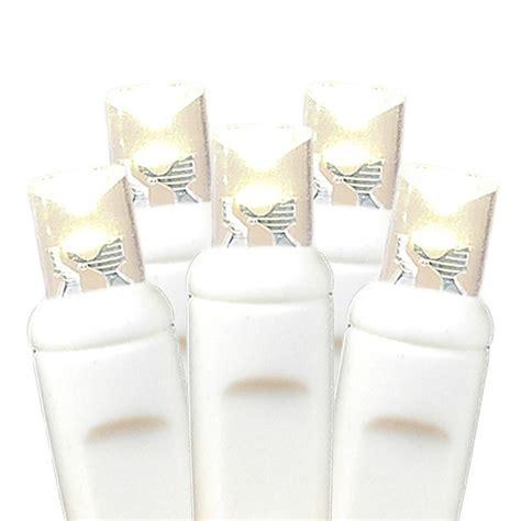 20 light warm white led christmas light set on white wire