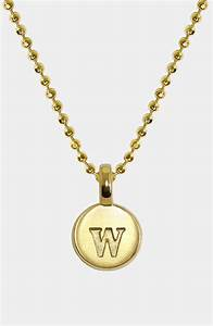 alex woo mini initial 14k gold pendant necklace in gold With alex woo letter necklace