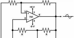 sine wave generator the circuit With sine wave diagram
