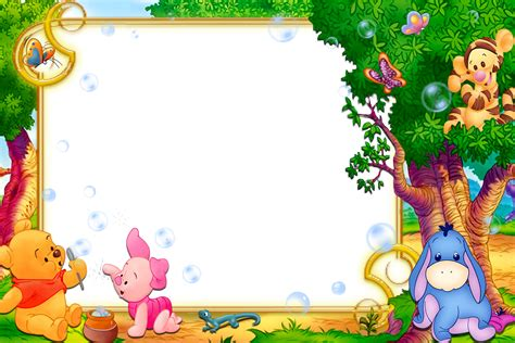 Kids Transparent Frame With Winnie The Pooh Gallery