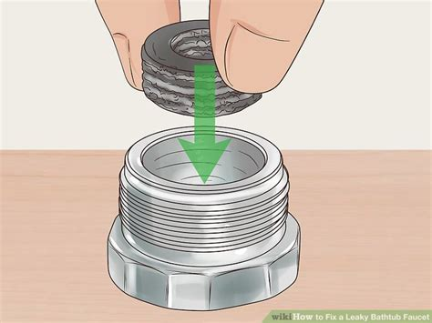 fix tub faucet leak how to fix a leaky bathtub faucet with pictures wikihow