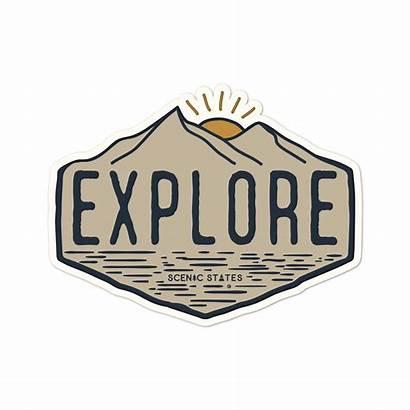 Explore Sticker Stickers Decal Scenic States