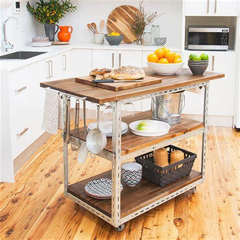 Mobile Kitchen Island Ideas - home dzine kitchen diy mobile kitchen island or workstation