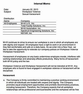 internal memo templates 16 free word pdf documents With sexual harassment policy template