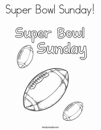 Coloring Bowl Super Sunday Superbowl Noodle Ll