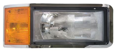 mack ch cl set back axle headlight assembly for rh