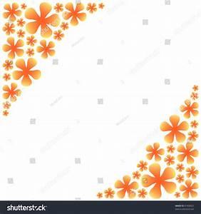 Orange Flower Frame Stock Photo 91958021 : Shutterstock