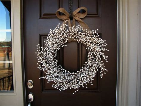 J Garris Home Interiors : January Snowfall Winter White Berry Wreath, Double Front