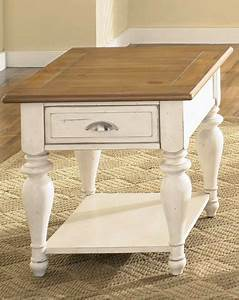 End tables designs cottage style end tables country for White country style coffee table