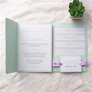 personalized favor boxes cheap simple mint green pocket lavender ribbon wedding