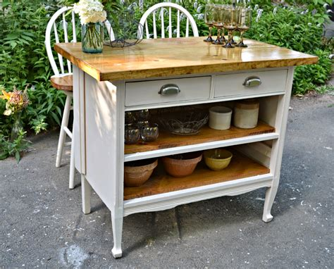 custom kitchen islands that look like furniture heir and space antique dresser turned cottage kitchen island