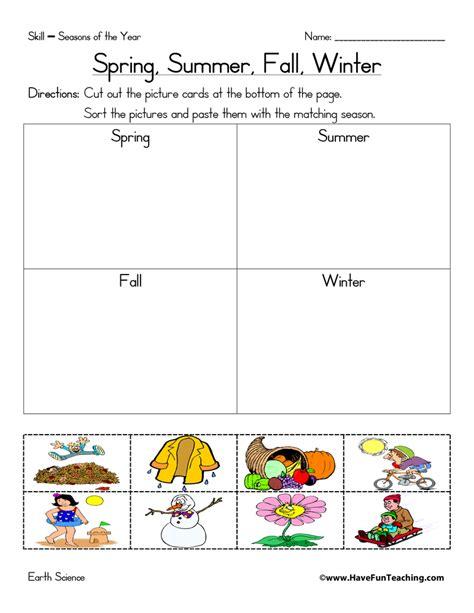 new 276 grade worksheet seasons firstgrade worksheet