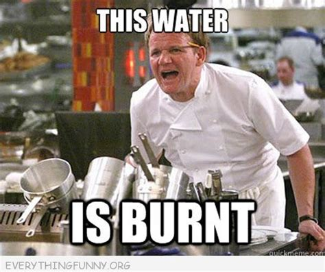 Funny Cooking Memes - funny gordon ramsey meme this water is burnt quotes pinterest gordon ramsey meme and water