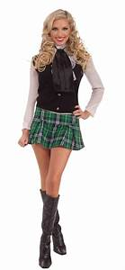 Scottish Mini Kilt Plaid Green Skirt St. Patrick Day ...