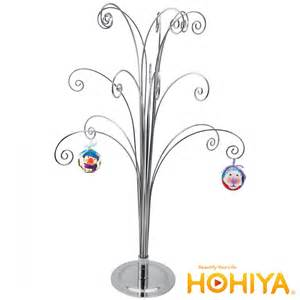 metal scroll 20 quot ornaments display tree in silver color ebay