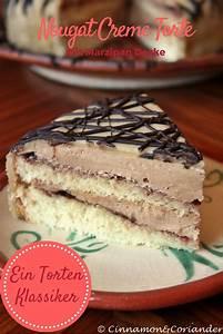 Nougat Creme Torte mit Marzipan Meine Lieblingstorte