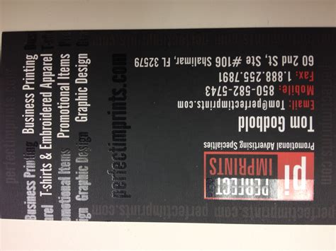 business card    promotional