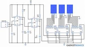 People Or Object Counter Circuit Diagram Using Ic 555 And
