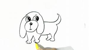 How to draw Easy Dog- in easy steps for children ...
