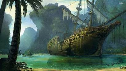 Pirate Ship Wallpapers Cave Wreck