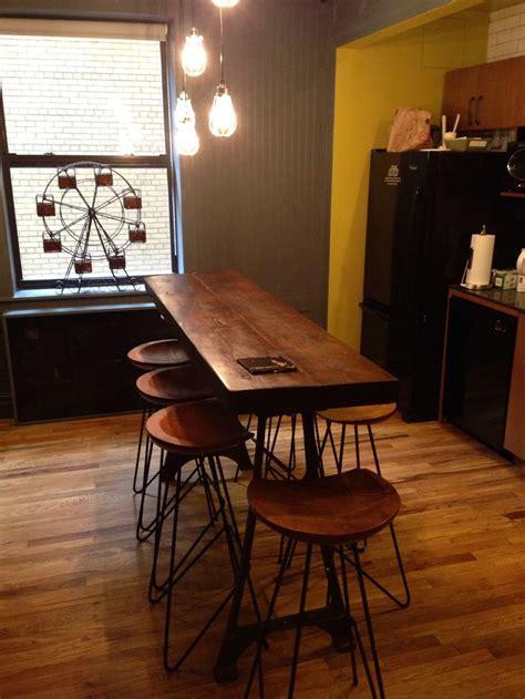 narrow kitchen island breakfast bar home design