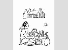 Native American Indian Coloring Pages Coloring Home