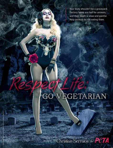 christian serratos twilight gets and deadly in new peta ad