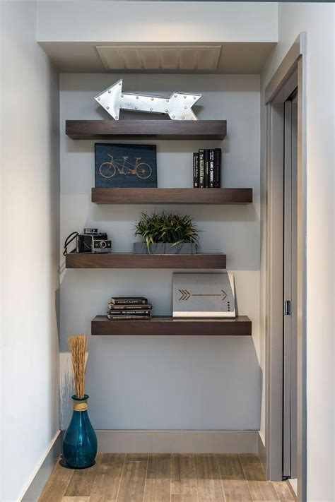 floating book shelves 12 ways to decorate with floating shelves hgtv s 3772