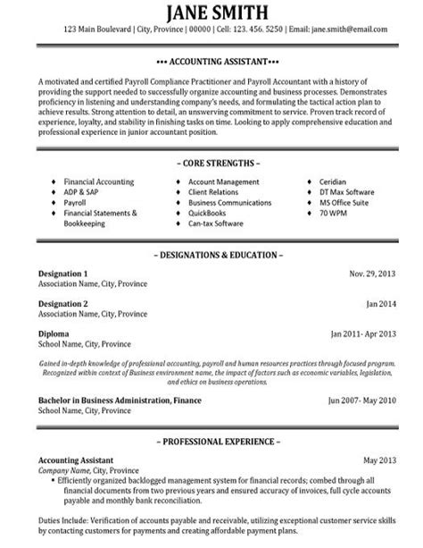 resume for an accountant 31 best best accounting resume templates samples images