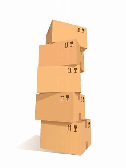 Boxes Stacked Clip Vector Illustrations Stacks Cardboard