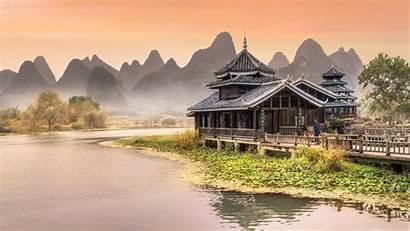 Chinese Wallpapers Traditional Desktop Park Near Amusement