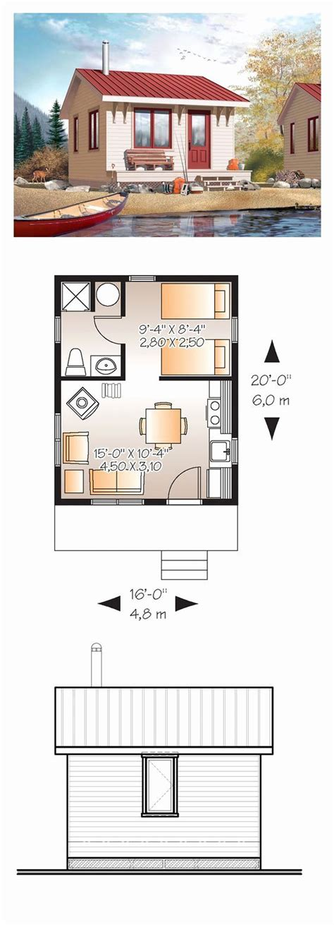 bedroom guest house plans    tiny house plans tiny house plan small house plans