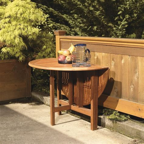 drop leaf outdoor patio table drop leaf patio table 42 quot wood gate leg table