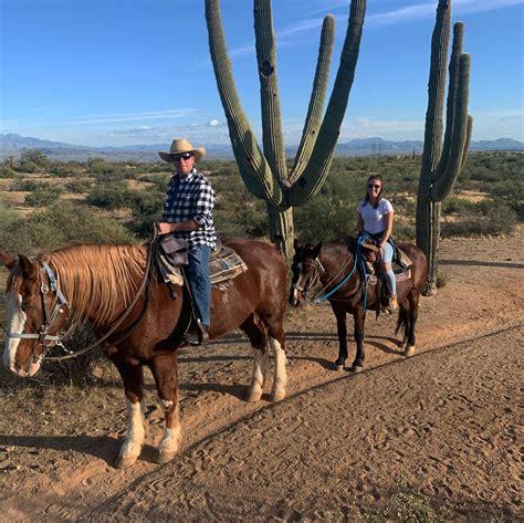 horseback phoenix ride trail giving while rides strut lets desert sunset views into cave creek