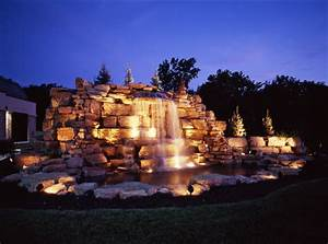 Memphis waterfall lighting outdoor perspectives