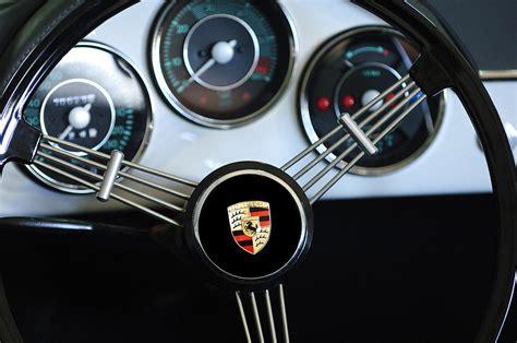 porsche steering wheel emblem photograph  jill reger