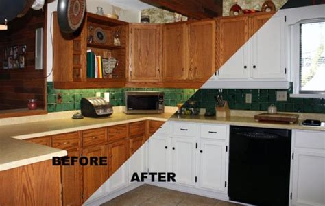 painted bathroom cabinets before and after before after painting old kitchen cabinets modern kitchens