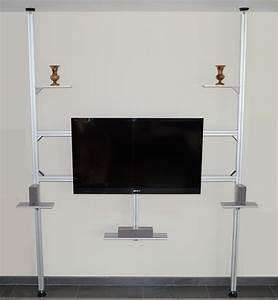 Raumteiler Tv Wand : tv stangen tv halterungen aufstehhilfen boden decken stangen tv s ulen tv mediawand tv ~ Indierocktalk.com Haus und Dekorationen