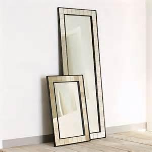floor mirror houzz antique tiled floor mirror eclectic floor mirrors by west elm