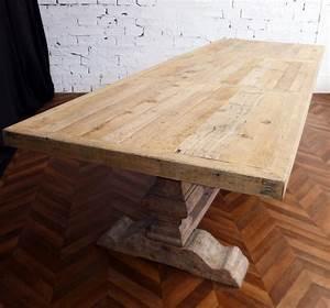 Table En Bois Massif Ancienne : grande et belle table de ferme monast re en bois brut naturel de 330 cm de long ~ Teatrodelosmanantiales.com Idées de Décoration