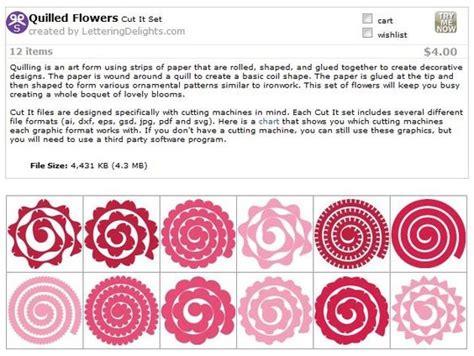 cricut flower template quilled flower templates svg cricut flower i and paper