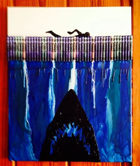 Boat Inspired Dog Names by Jaws Inspired Melted Crayon Art Painting